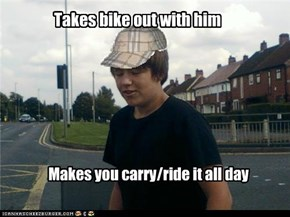 Scumbag kieran likes to go out