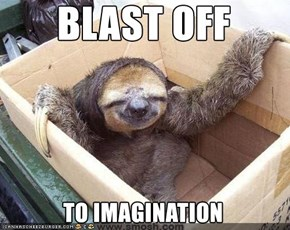 Cute Sloth likes imagination!