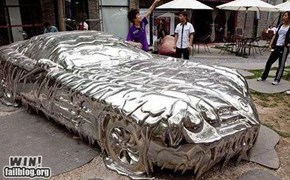 melted Mercedes