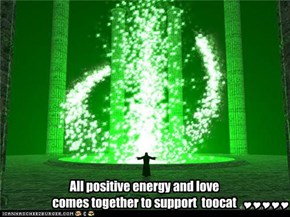 All positive energy and love comes together to support  toocat