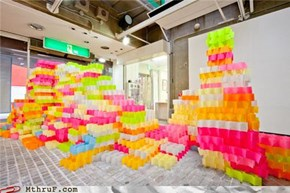 Try This at Work: A Sculpture Built from 30,000 Post-Its