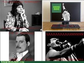 Freddie is on Memebase like a boss