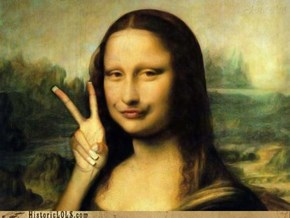 Duck Face Mona Lisa