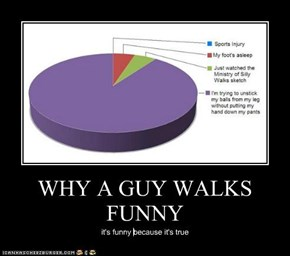 WHY A GUY WALKS FUNNY