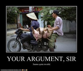 YOUR ARGUMENT, SIR
