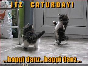 I T Z      C A T U R D A Y !  ...happi danz...happi danz...