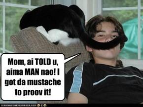 Man = mustache