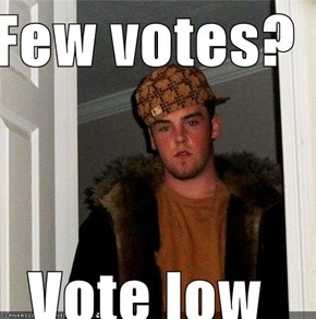 Few votes?  Vote low