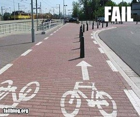 Bike lane fail