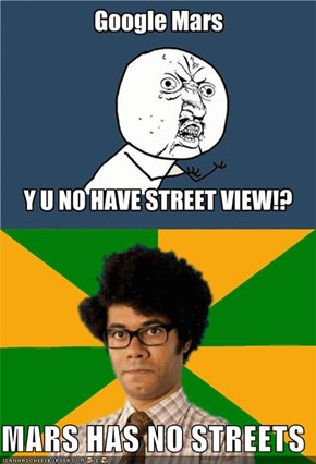 MARS HAS NO STREETS