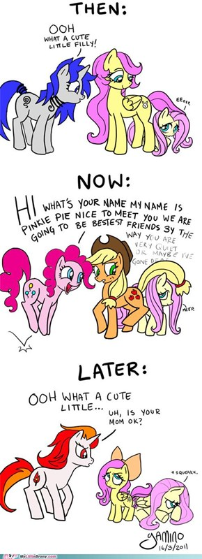 then, now, later, of fluttershy