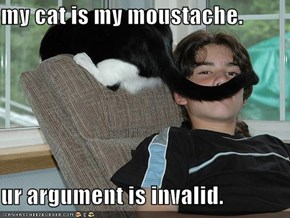 my cat is my moustache.  ur argument is invalid.