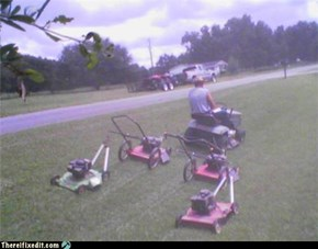 Lawnmowers on Parade