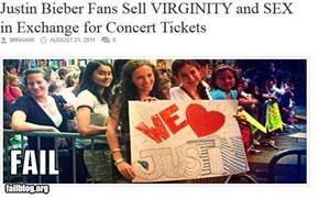 Justin Bieber Fans FAIL
