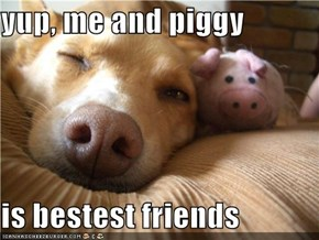 yup, me and piggy  is bestest friends