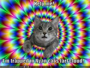 Help me!  I'm trapped in Nyan cat's fart cloud!