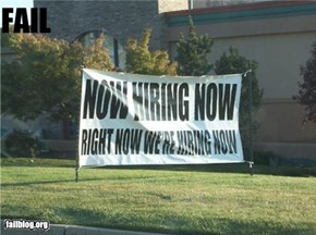 Hiring Sign FAIL