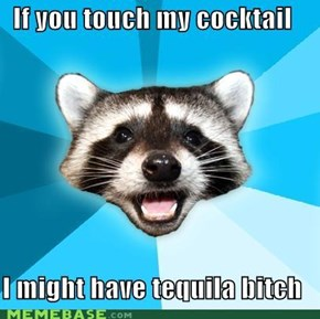 Lame Pun Coon loves happy hour