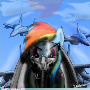 badass rainbow dash