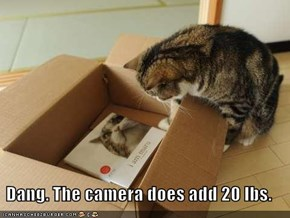 Dang. The camera does add 20 lbs.