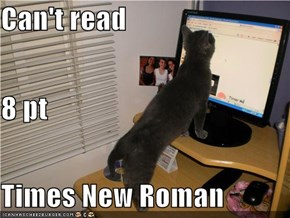 Can't read 8 pt Times New Roman