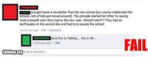 School Newsletter Fail