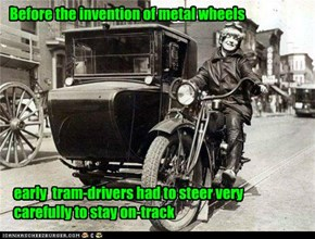 Before the invention of metal wheels
