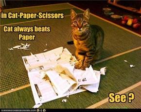 in Cat-Paper-Scissors