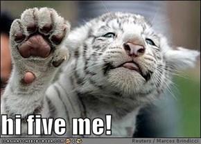 hi five me!