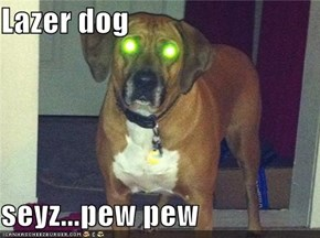 Lazer dog  seyz...pew pew