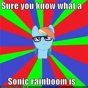 Sure you know what a  Sonic rainboom is