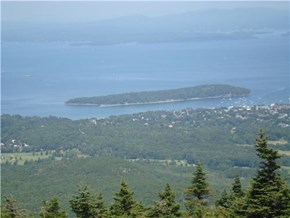 Bar Harbor, Maine, Seen from top of Cadillac Mt.