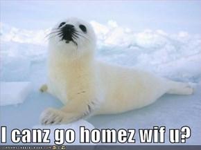 I canz go homez wif u?