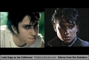 Lady Gaga as Joe Calderone Totally Looks Like Johnny from the Outsiders