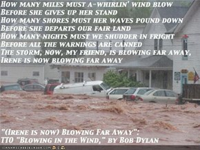 """(Irene is Now) Blowing Far Away"": TTO ""Blowing in the Wind,"" by Bob Dylan"