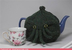 Green Cthulhu Tea Cozy