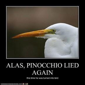 ALAS, PINOCCHIO LIED AGAIN