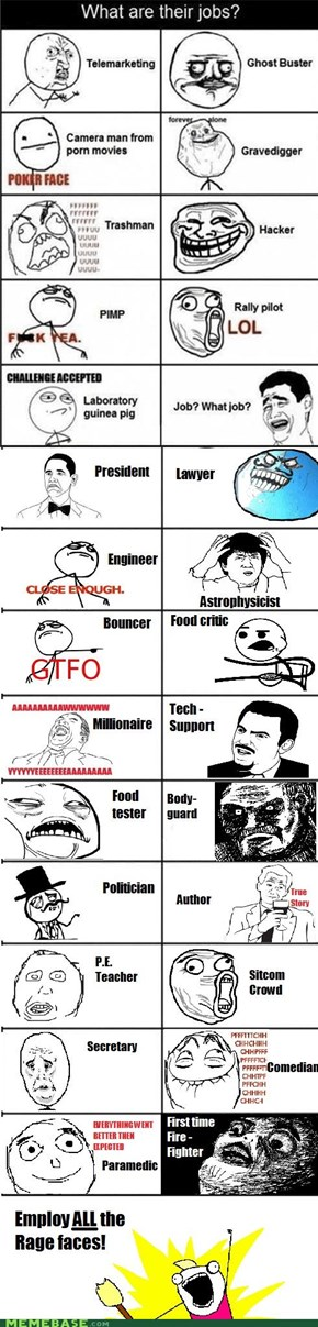 More Rage face jobs!