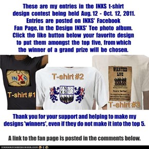 INXS t-shirt design entries...
