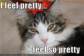 I feel pretty...  feel so pretty