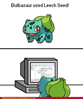 Bulbasaur Used Leech Seed