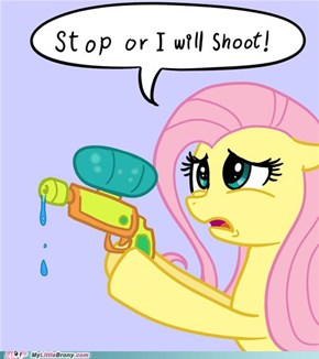 Don't Make Fluttershy Pull the Trigger
