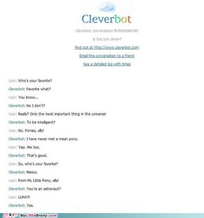 Cleverbot is a Pony?!