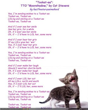 """Tookat-ee"" for Tookat: TTO ""Moonshadow,"" by Cat Stevens"