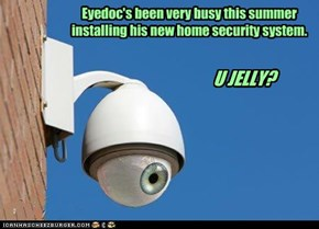 Eyedoc's been very busy this summer  installing his new home security system.