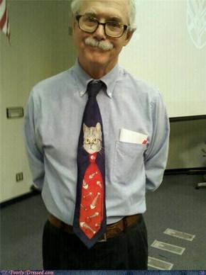 A Cat Wearing a Tie of a Cat Wearing a Tie