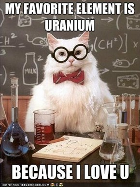 MemeCats: I Can't Tell if Chemistry Cat Is Flirting With Me or Just Geeking Out...