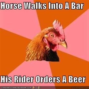 Horse Walks Into A Bar  His Rider Orders A Beer