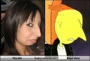 This Girl Totally Looks Like Roger Klotz