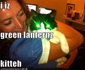 i iz green lanternz kitteh